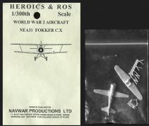 Heroics & Ros 6mm WWII Dutch Aircraft NEA31 Fokker C.X Biplane Scout/Bomber x 1